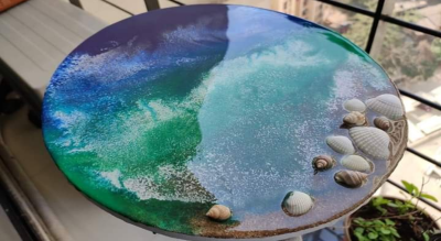 Ocean Pour Resin Art Workshop
