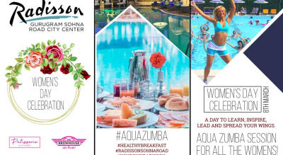 Women's Day Celebration: Female Pass to Aqua Zumba Session and Lunch By The Pool