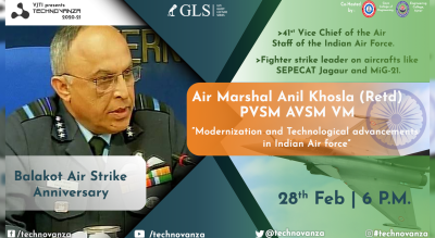 VJTI Technovanza GLS : Air Marshal Anil Khosla