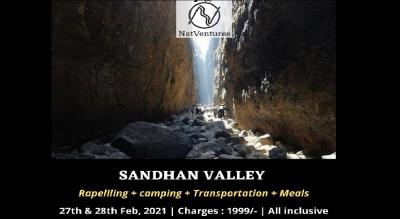 Sandhan Valley Full Descend Trek + Rapelling + Camping.