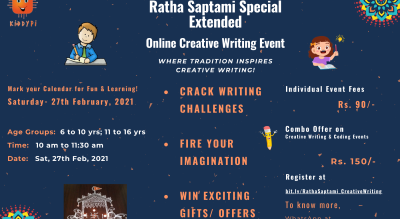 Ratha Saptami Special Events- Extended | Online Creative Writing