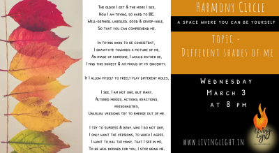 Harmony Circle - Different shades of me