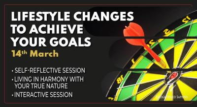 Lifestyle changes to achieve your goals