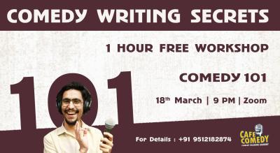 Comedy Writing Secrets : Comedy Workshop on Zoom