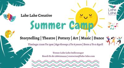 Lahe Lahe Creative Summer Camp for 5-8 year olds