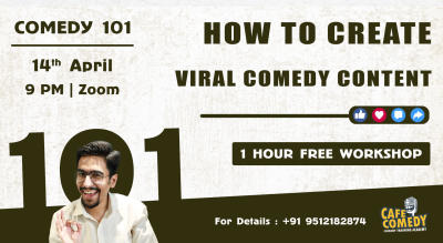 How To Create Viral Comedy Content?  : Comedy Workshop on Zoom