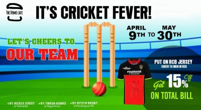 IT'S CRICKET FEVER @ The Dome Cafe