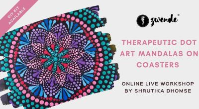 Therapeutic Dot Art Mandalas on Coasters [Online Live Workshop - Inclusive of Materials]
