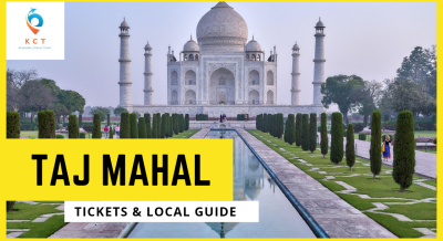 Taj Mahal Entry Ticket with local guide & Tram Ride Agra