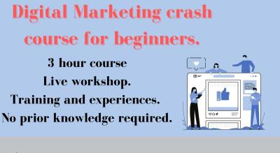 Digital marketing crash course for beginners.