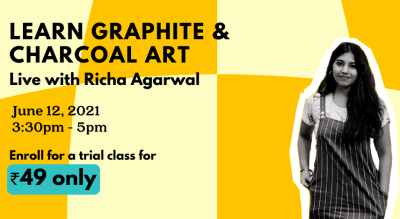 Charcoal and Graphite Art by Richa Agarwal x Habbit