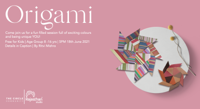 Origami Workshop By The Circle Community(Exclusively for Kids)