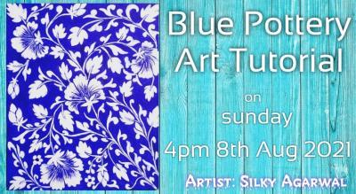 Blue Pottery Art...online live session