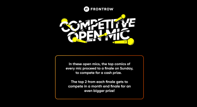 FrontRow Competitive Open Mic