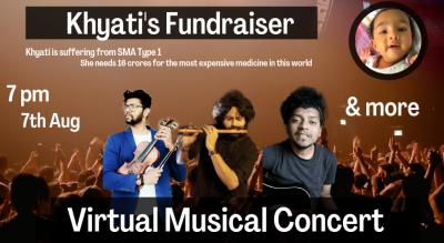 Khyati's Fund Raiser - Virtual Music Concert