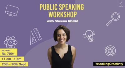 Public Speaking with Sheena Khalid || HackingCreativity || Kommune