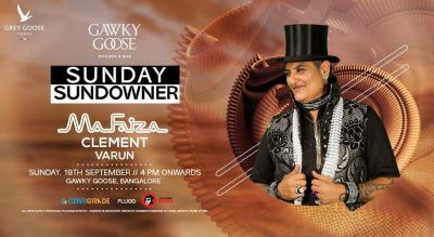 Sunday Sundowner Ft MaFaiza | 19th Sept | Gawky Goose.