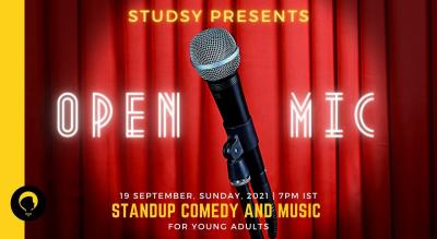 Standup Comedy and Music Open Mic for Young Adults : Presented by Studsy