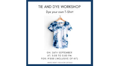 Tie and Dye Workshop- Dye your own T-Shirt in your favorite shades (inclusive the kit)