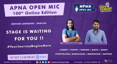 Apna Open Mic - 100th Online Edition (English)