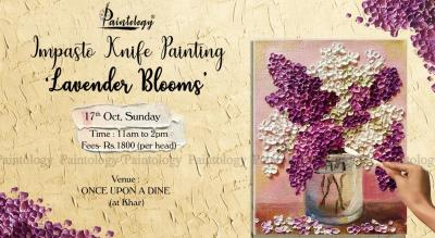 17th Oct – 'Lavender Blooms' Knife + Spoon Painting workshop