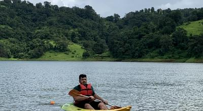 Kayaking on lake at Ananta Ecostays,Igatpuri