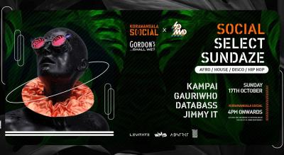 Social Select Sundaze Ft. Kampai, Gauriwho, DataBass & Jimmy IT @social Koramangala, BLR