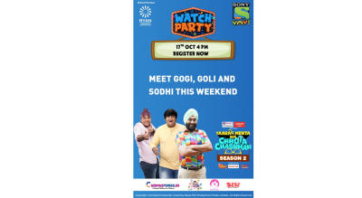 Block your date as Sony YAY! Brings you a fabulous Taarak Mehta Kka Chhota Chashmah watch party with a whole lot of fun, games and surprises this Sunday