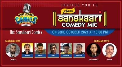 "We The Comics invites you to ""Apna Sanskaari"" Clean Comedy Mic"