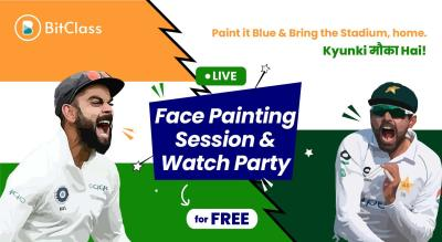 Face Painting & Watch Party | Gear-up for the Glorious Cricket Match this Sunday!