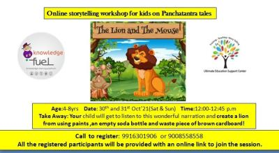 Online storytelling workshop for kids on Panchatantra tales.
