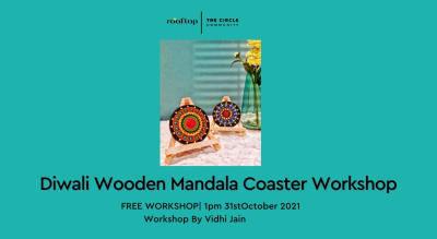 Diwali Wooden Mandala Coaster Workshop by Rooftop