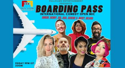 boarding pass comedy open mic