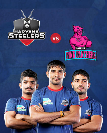VIVO Pro Kabaddi - Bengal Warriors vs Telugu Titans and Haryana Steelers vs Jaipur Pink Panthers