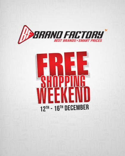 Brand Factory Free Shopping Weekend - New Delhi, City Square Mall (Rajouri)