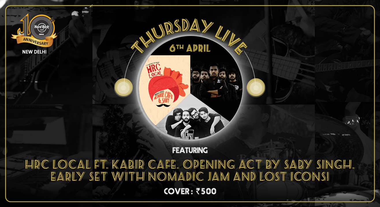 Neeraj Arya's Kabir Cafe and Saby - Thursday Live! Early Set with Nomadic Jam and Lost Icons!