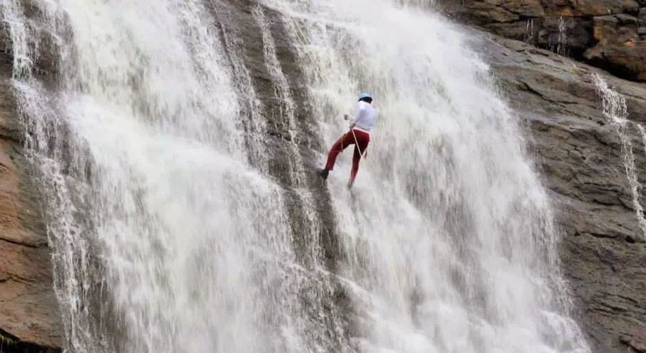 Thrilling Waterfall Rappelling At Bekre