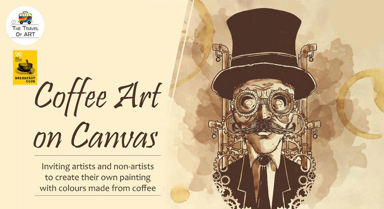 Coffee Art on Canvas with Artist Ritu Dua