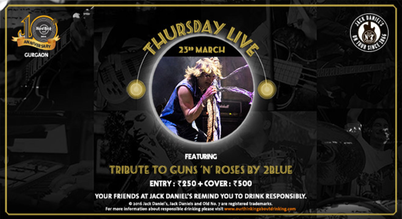 Thursday Live: Tribute to Guns 'n' Roses by 2Blue
