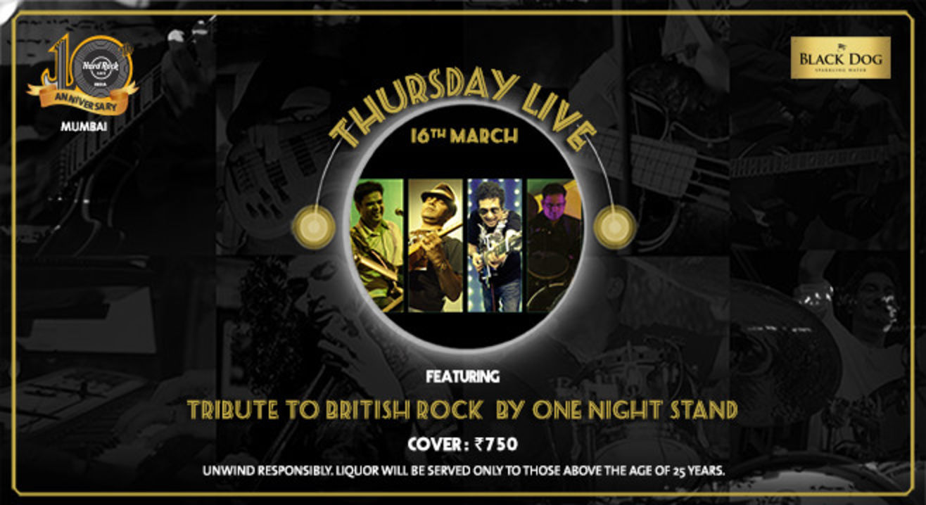 Thursday Live: Tribute to British Rock by One Night Stand
