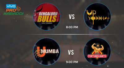 Pro Kabaddi Tickets - U Mumba vs Gujarat Fortune Giants & Bengaluru Bulls vs UP Yoddha