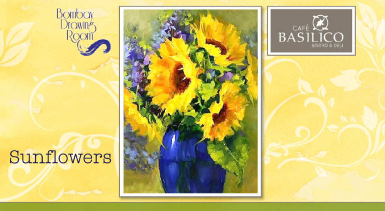 Cafe Basilico Painting Party - Sunflowers