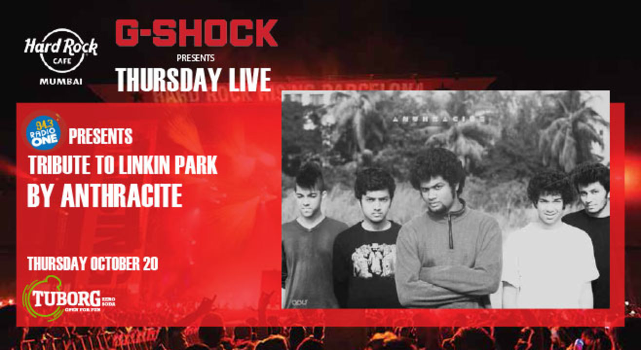 94.3 Radio One Presents Tribute to Linkin Park by Anthracite. Presented by G-Shock