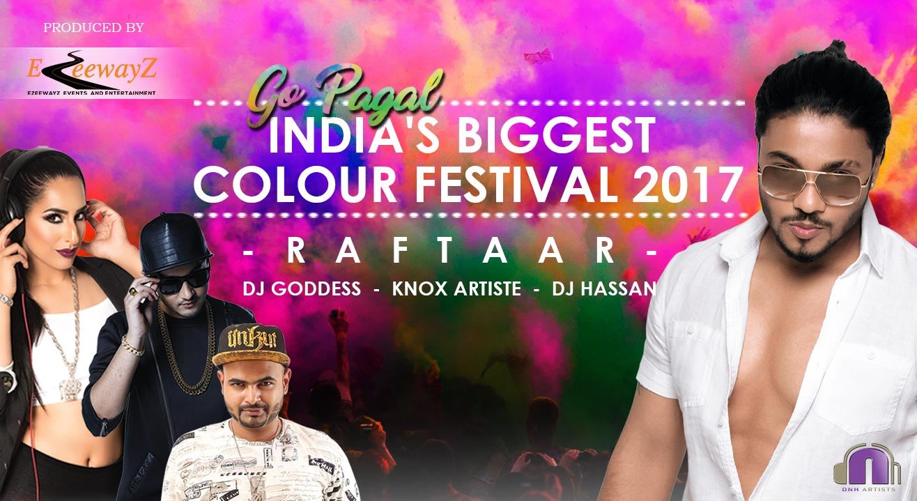 India's Biggest Holi Festival (Go Pagal) - Raftaar Live in Bangalore