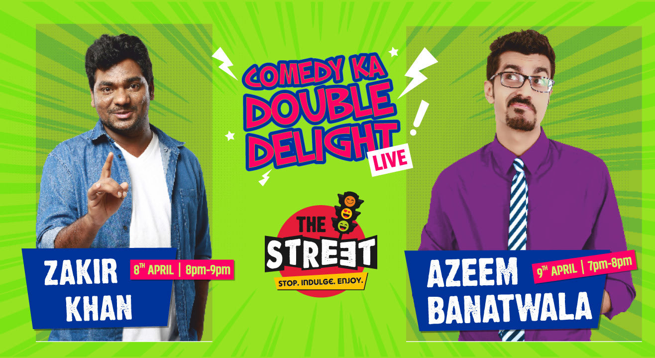 Zakir Khan And Azeem Banatwalla At The Street
