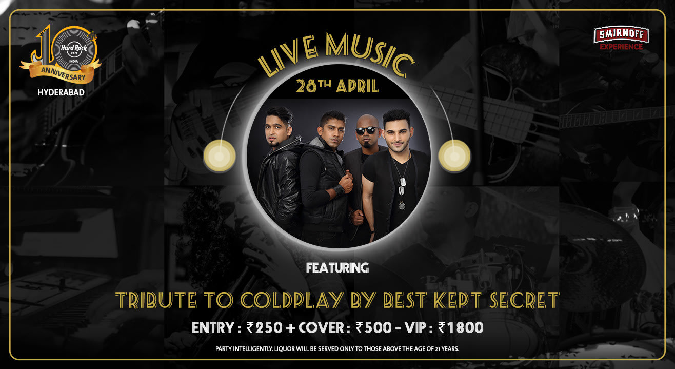 Tribute To Coldplay By Best Kept Secret - Live Music!