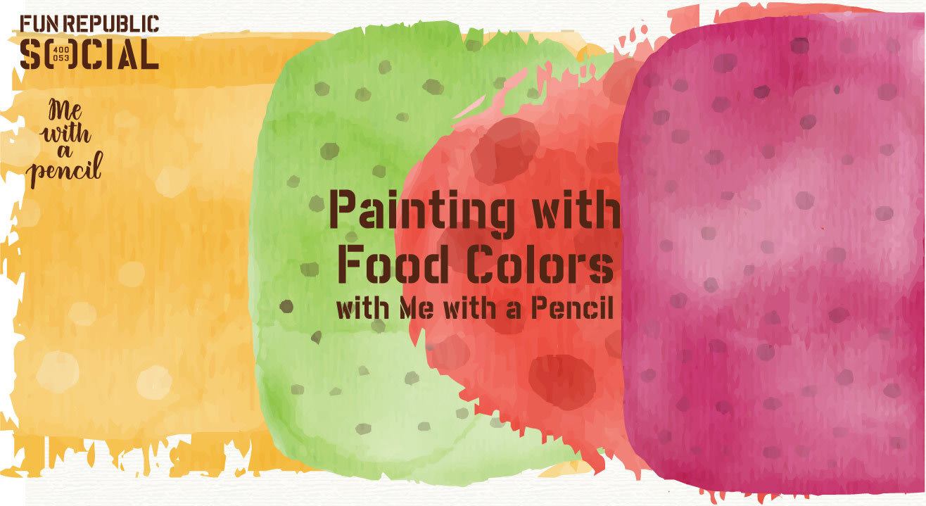 Painting with Food Color with Me with a Pencil