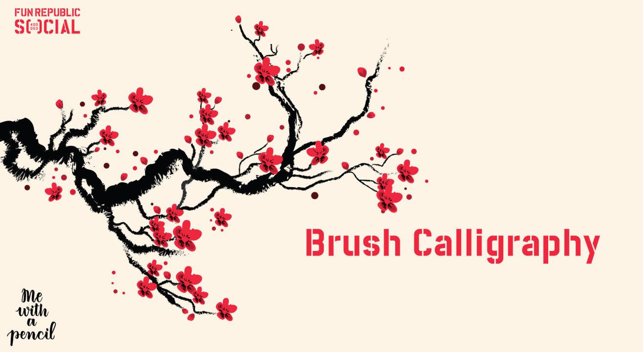 Brush Calligraphy at #FunRepublicSocial