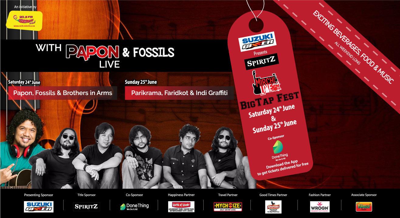 Spiritz Mirchi Live Big Tap Fest ft. Papon, Fossils, Parikrama & Faridkot