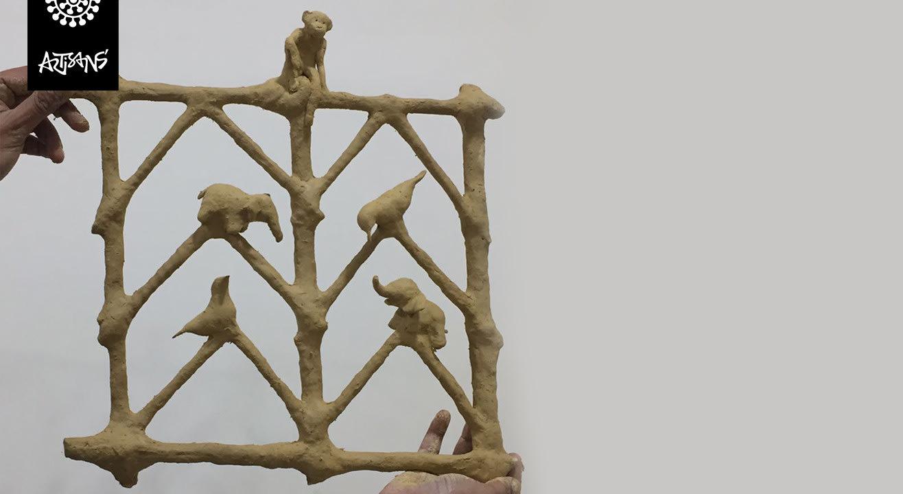 Bheenti Chitra – By Champa Bai Artist From The Tribal Museum Madhya Pradesh